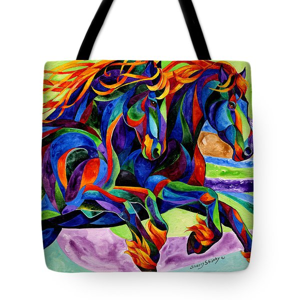 Wind Dancers Tote Bag by Sherry Shipley