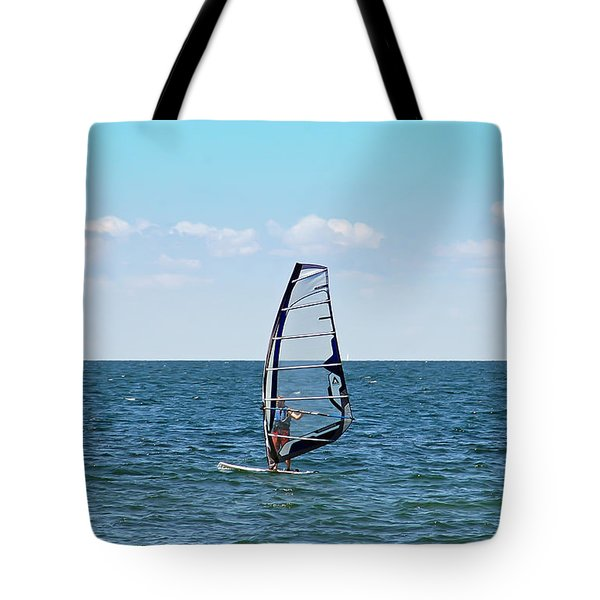 Wind Surfer Tote Bag by Aimee L Maher Photography and Art