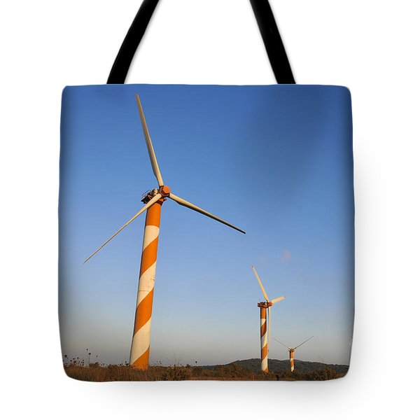 Wind turbines  Tote Bag by Shay Levy