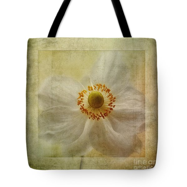 Windflower Textures Tote Bag by John Edwards