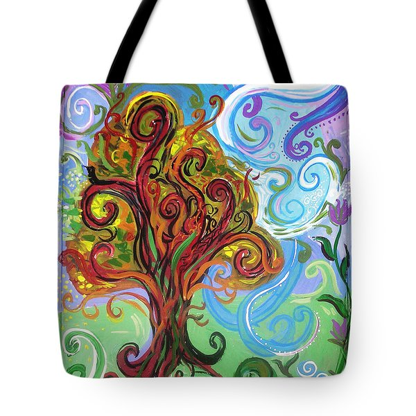 Winding Tree Tote Bag by Genevieve Esson