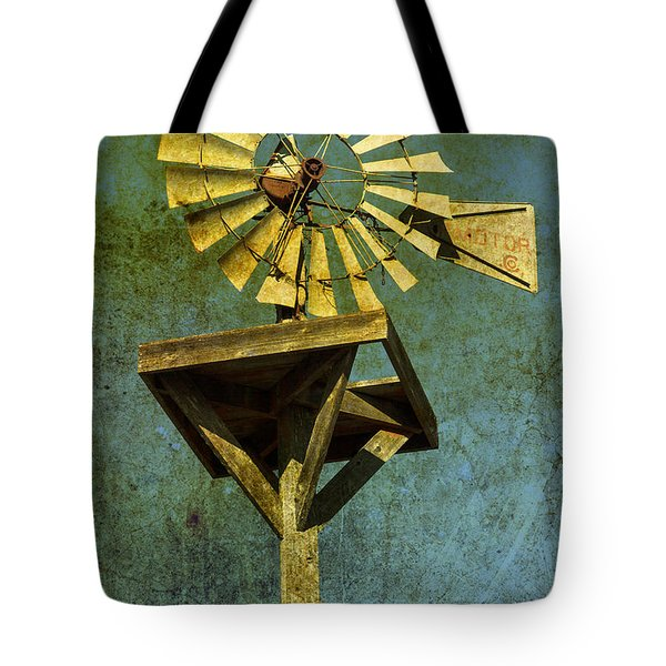 Windmill Abstract Tote Bag by Garry Gay