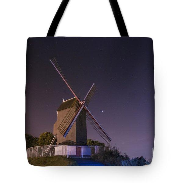 Windmill At Night Tote Bag by Juli Scalzi