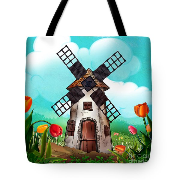 Windmill Path Tote Bag by Bedros Awak