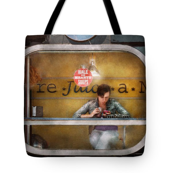 Window - Hoboken NJ - Hale and Hearty Soups  Tote Bag by Mike Savad