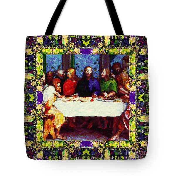 Window Into The Last Supper 20130130m138 Tote Bag by Wingsdomain Art and Photography