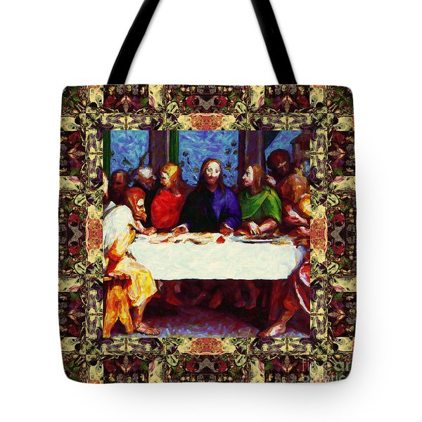 Window Into The Last Supper 20130130sep Tote Bag by Wingsdomain Art and Photography