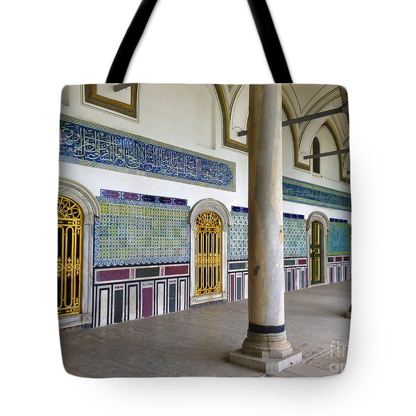 Window Of The Chamber Of The Holy Mantle In The Topkapi Palace Istanbul Turkey Tote Bag by Ralph A  Ledergerber-Photography