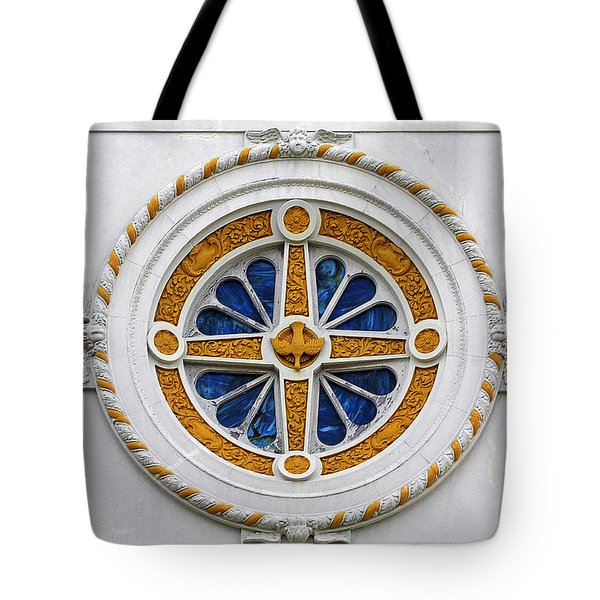 Window St Mary's Church New Orleans Tote Bag by Christine Till