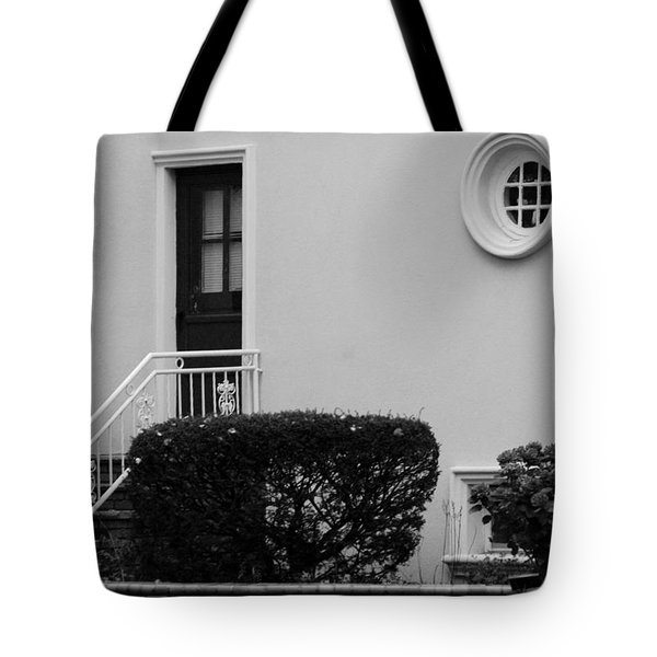Windows In The Round In Black And White Tote Bag by Rob Hans