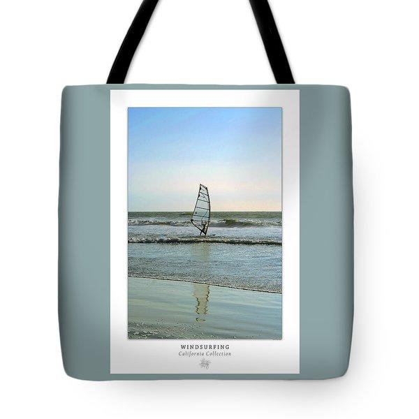 Windsurfing Art Poster - California Collection Tote Bag by Ben and Raisa Gertsberg