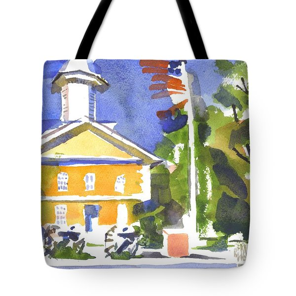 Windy Day At The Courthouse Tote Bag by Kip DeVore