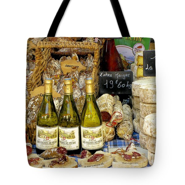 Wine and Cheese Tote Bag by Douglas J Fisher