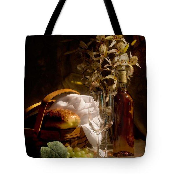 Wine And Romance Tote Bag by Tom Mc Nemar