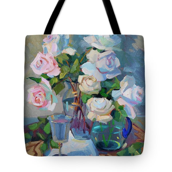 Wine And Roses Tote Bag by Diane McClary