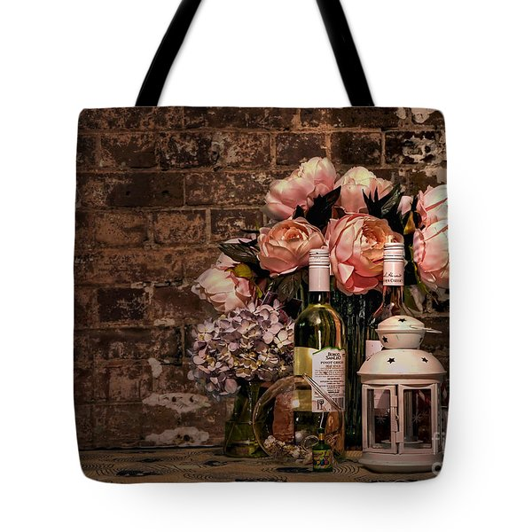 Wine And Roses Tote Bag by Kaye Menner
