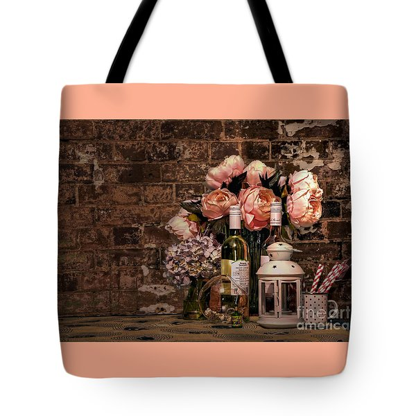 Wine And Roses Tote Bag by Kaye Menner