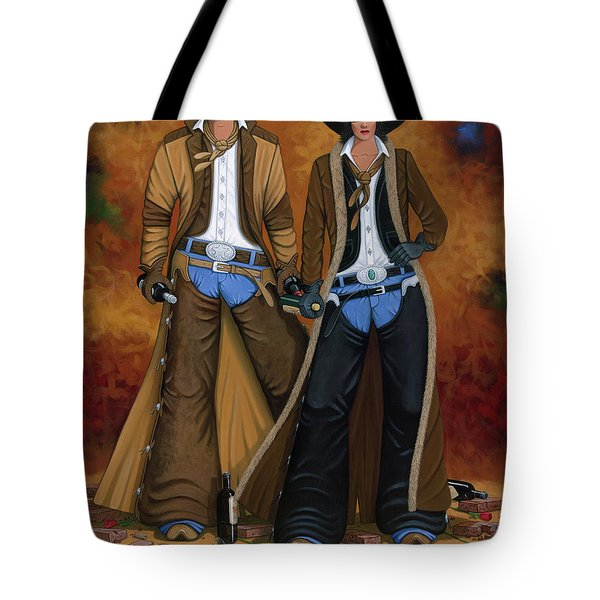 WINE AND ROSES Tote Bag by Lance Headlee