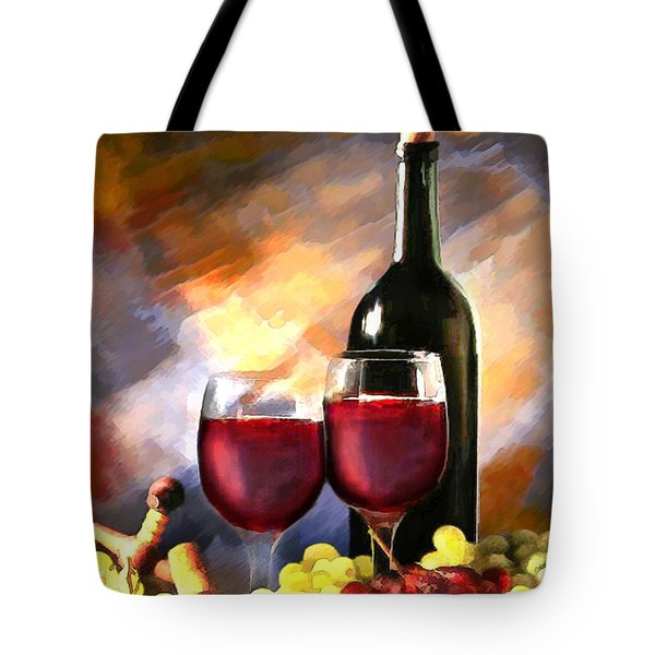 Wine Before and After Tote Bag by Elaine Plesser