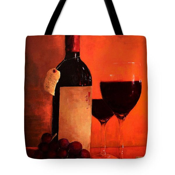 Wine Bottle  Tote Bag by Patricia Awapara