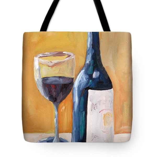 Wine Bottle Still Life Tote Bag by Todd Bandy
