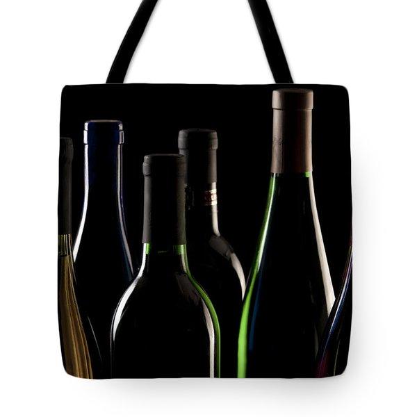 Wine Bottles Tote Bag by Tom Mc Nemar