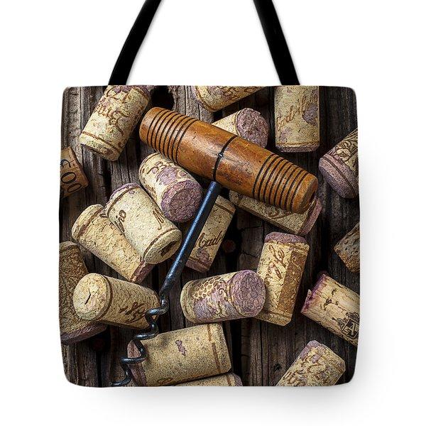 Wine Corks Celebration Tote Bag by Garry Gay