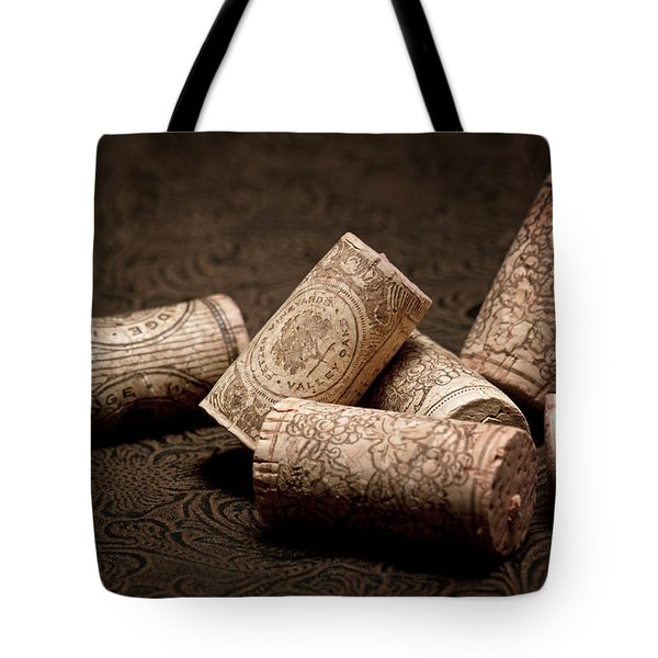 Wine Corks Still Life III Tote Bag by Tom Mc Nemar