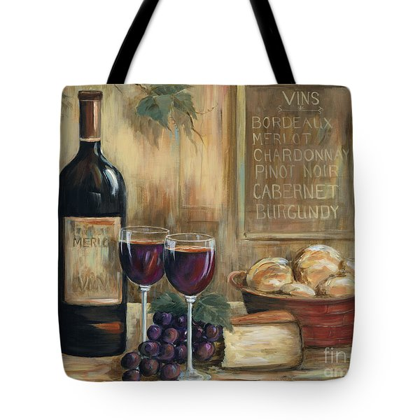 Wine For Two Tote Bag by Marilyn Dunlap