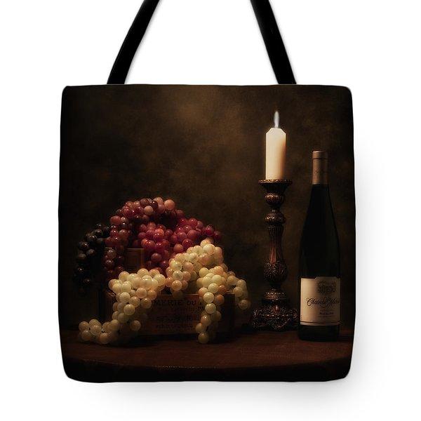 Wine Harvest Still Life Tote Bag by Tom Mc Nemar