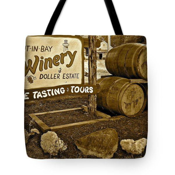 Wine is Fine Tote Bag by Frozen in Time Fine Art Photography