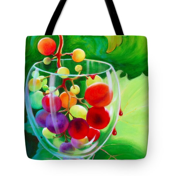 Wine On The Vine IIi Tote Bag by Sandi Whetzel