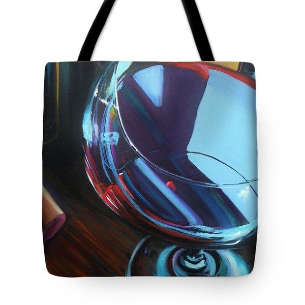 Wine Reflections Tote Bag by Donna Tuten