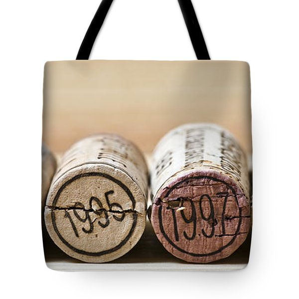 Wine Vintages Tote Bag by Frank Tschakert