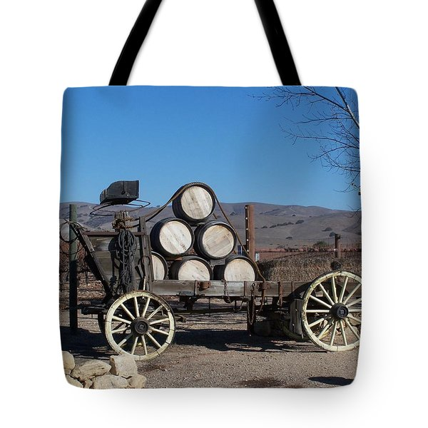 Wine Wagon Tote Bag by Jewels Blake Hamrick