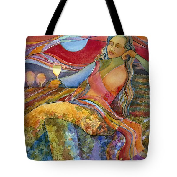 Wine Woman and Song Tote Bag by Jen Norton