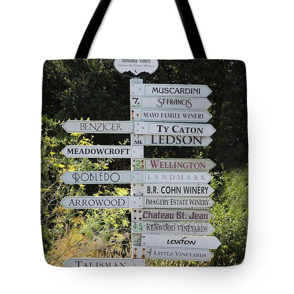 Winery Street Sign In The Sonoma California Wine Country 5D24601 Tote Bag by Wingsdomain Art and Photography