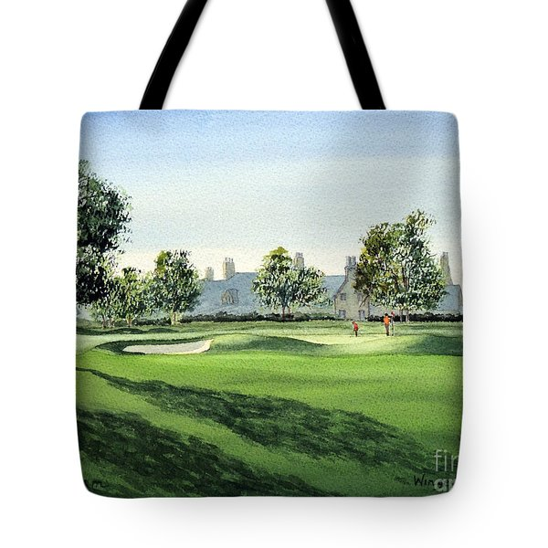 Winged Foot West 18Th Hole Tote Bag by Bill Holkham
