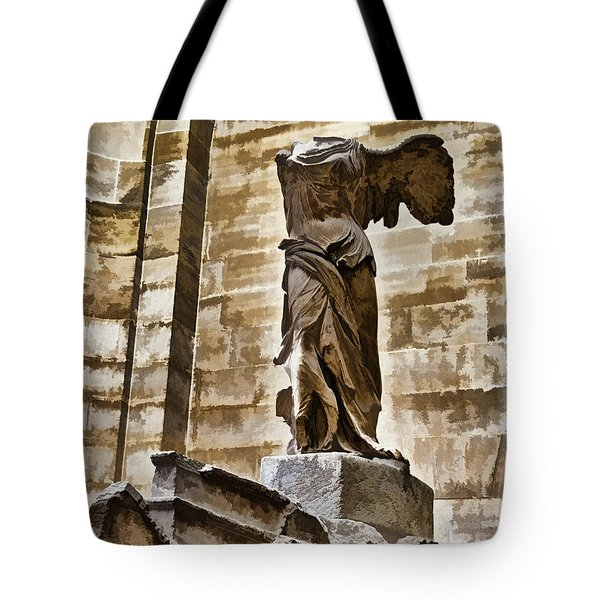 Winged Victory - Louvre Tote Bag by Jon Berghoff