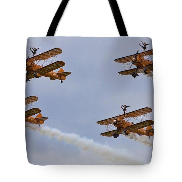 Wingwalkers  Perfect Sync Tote Bag by Maj Seda