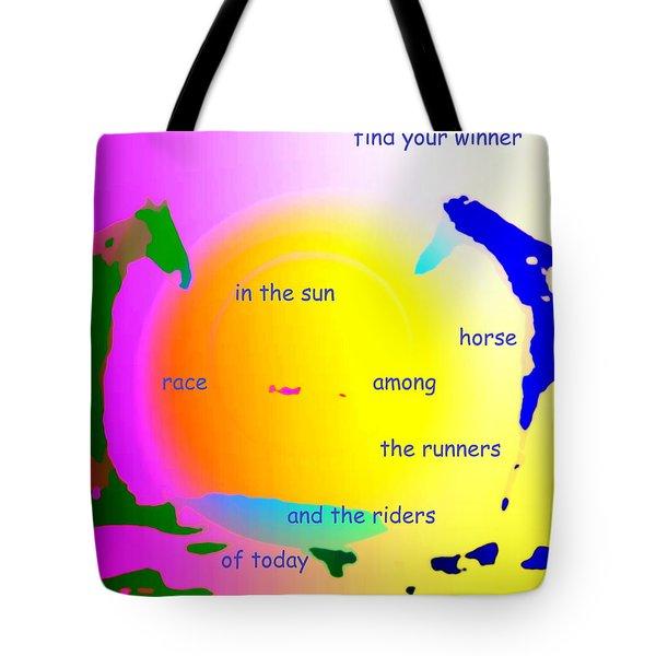 winner in the sun Tote Bag by Hilde Widerberg