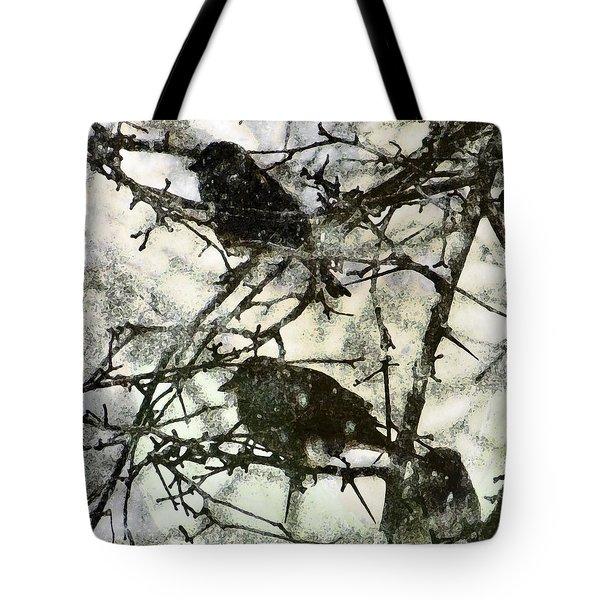 Winter Birds Tote Bag by John Goyer