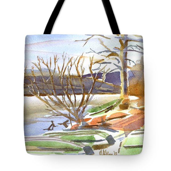 Winter Blue Tote Bag by Kip DeVore
