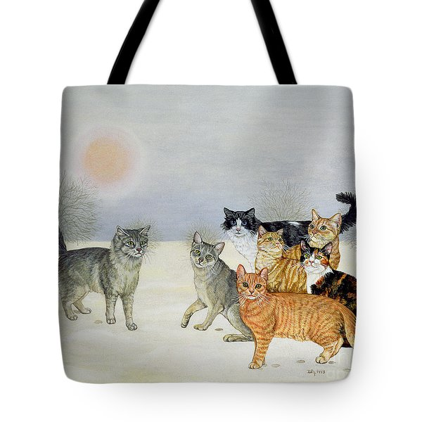 Winter Cats Tote Bag by Ditz