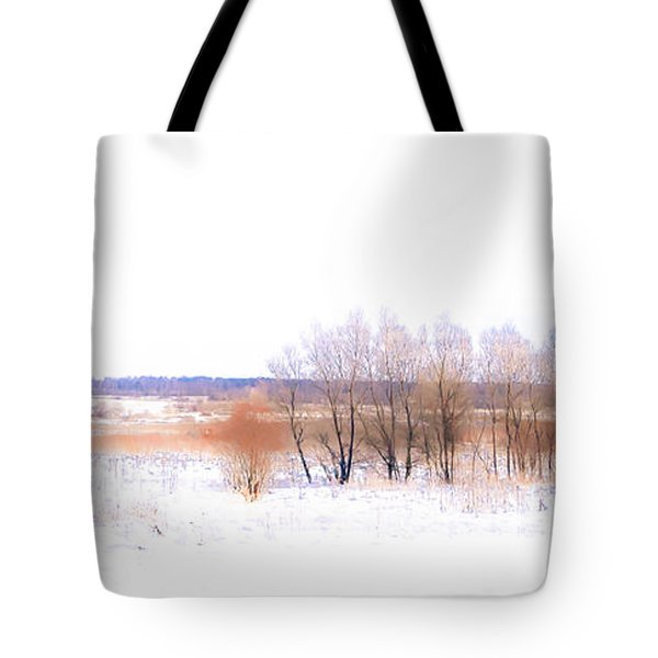 Winter Fields. In Color Tote Bag by Jenny Rainbow