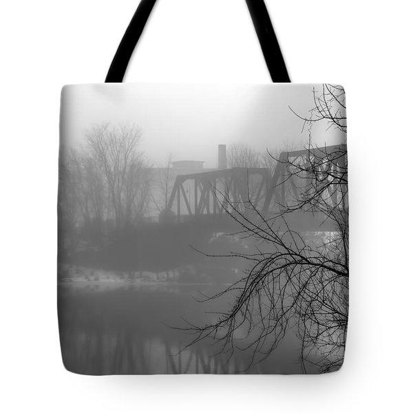 Winter Fog Tote Bag by Bob Orsillo