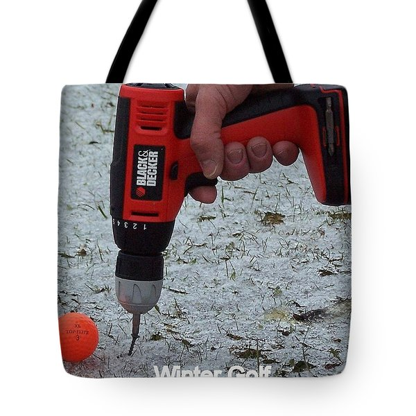Winter Golf Tote Bag by Frozen in Time Fine Art Photography