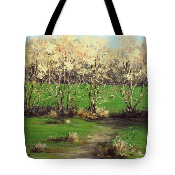 Winter Greens Tote Bag by Karen Ilari
