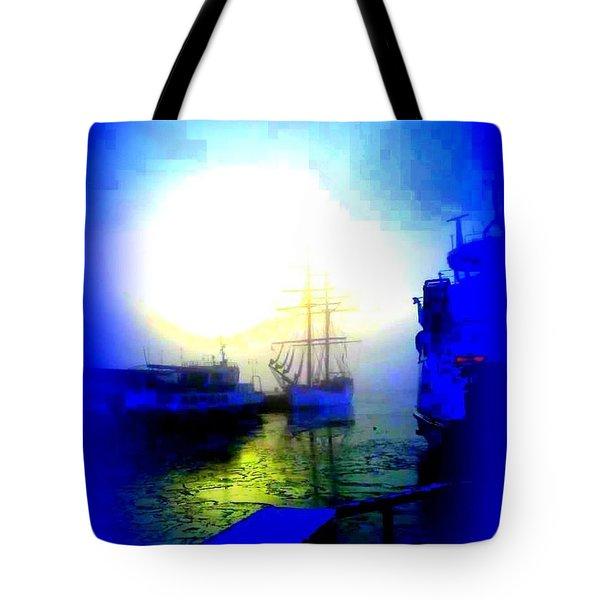Winter Harbour Tote Bag by Hilde Widerberg
