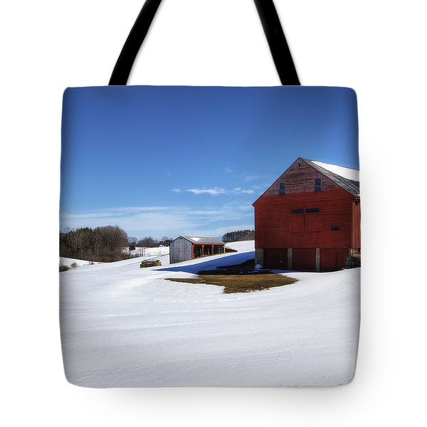 Winter In Dover Tote Bag by Eric Gendron